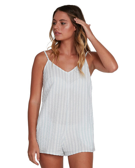 WHITE WOMENS CLOTHING BILLABONG PLAYSUITS + OVERALLS - BB-6504530-WHT