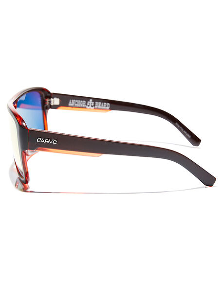 BLACK RED MENS ACCESSORIES CARVE SUNGLASSES - 3032BLKRD