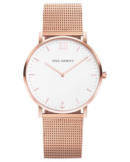 ROSE GOLD WHITE ROSE WOMENS ACCESSORIES PAUL HEWITT WATCHES - PH-SA-R-ST-W-4RGWSR