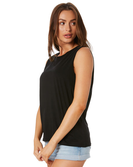 BLK WOMENS CLOTHING AS COLOUR SINGLETS - 4043BLK