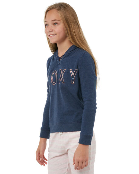 DRESS BLUES HEATHER KIDS GIRLS ROXY JUMPERS - ERGFT03265BTKH