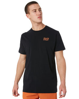 BLACK MENS CLOTHING SANTA CRUZ TEES - SC-MTD9369BLK