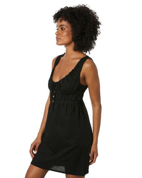 BLACK WOMENS CLOTHING THRILLS DRESSES - WTS20-907BBLK