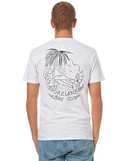 WHITE MENS CLOTHING OAKLAND SURF CLUB TEES - F17-110-WHTWHT
