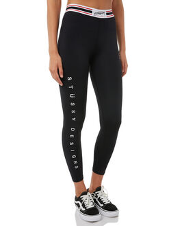 BLACK WOMENS CLOTHING STUSSY ACTIVEWEAR - ST185A02BLK
