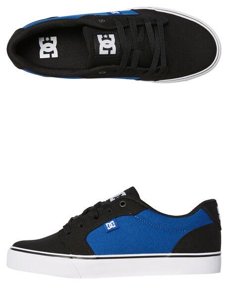 BLACK BLUE MENS FOOTWEAR DC SHOES SNEAKERS - 320040BKB