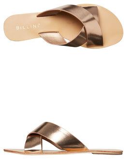 ROSE GOLD METALIC WOMENS FOOTWEAR BILLINI FASHION SANDALS - S405RSGLD