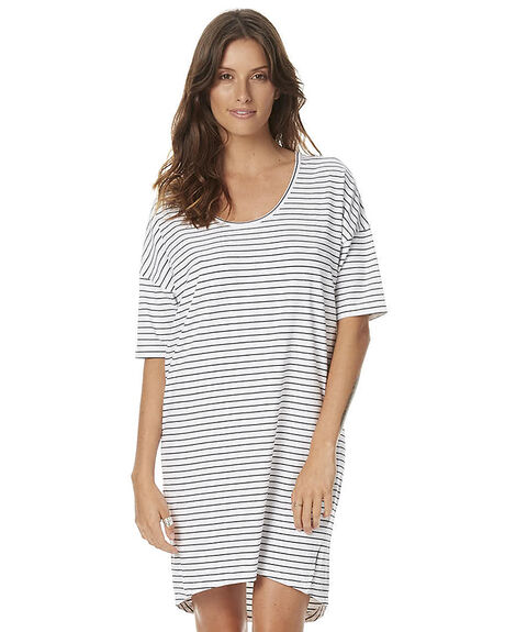 WHITE BLACK STRIPE WOMENS CLOTHING SWELL DRESSES - S8161460WBS