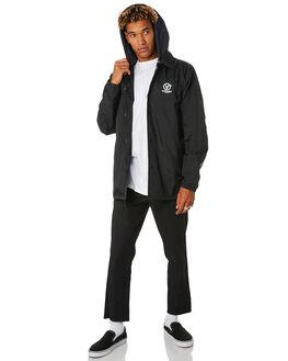 BLACK MENS CLOTHING VANS JACKETS - VNA3HOUTSZBLK