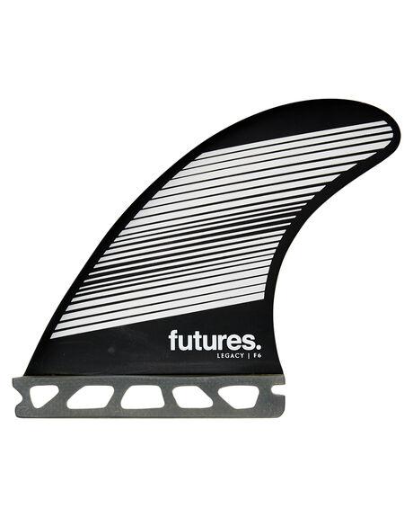 GREY BLACK BOARDSPORTS SURF FUTURE FINS FINS - 1165-160-00GRYBK