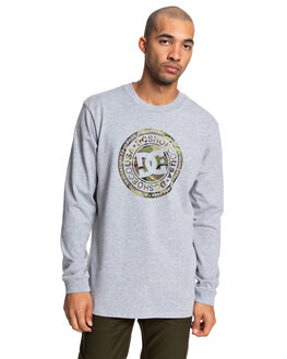 GREY HEATHER/CAMO MENS CLOTHING DC SHOES TEES - UDYZT03657-XSSC