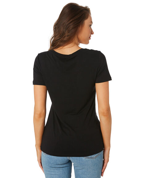 BLACK WOMENS CLOTHING BETTY BASICS TEES - BB415BLK