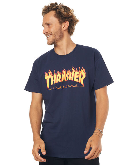 NAVY MENS CLOTHING THRASHER TEES - 20065193NVY