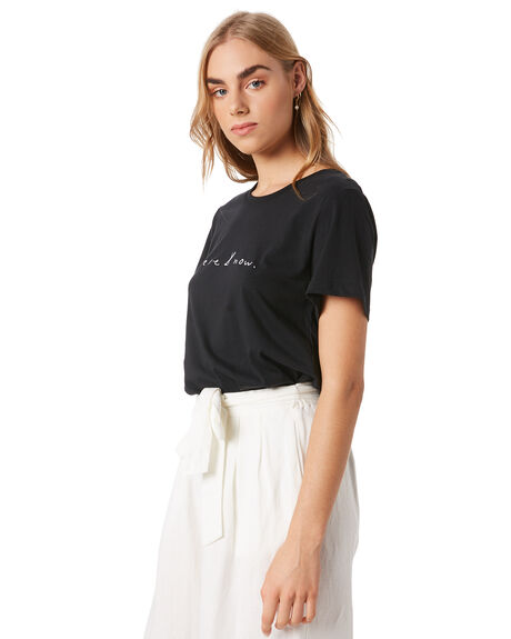 BLACK WOMENS CLOTHING GINGER AND SMART TEES - R20112BLK