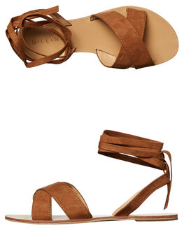 TAN SUEDE WOMENS FOOTWEAR BILLINI FASHION SANDALS - S483TANSD