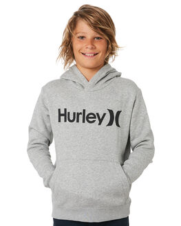 DARK GREY HEATHER KIDS BOYS HURLEY JUMPERS + JACKETS - AO2210063