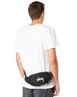BLACK MENS ACCESSORIES STUSSY BAGS + BACKPACKS - ST796012BLK