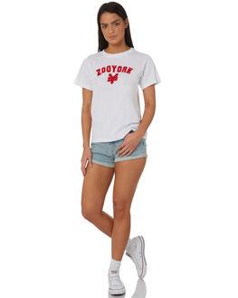 WHITE WOMENS CLOTHING ZOO YORK TEES - ZY-WTC8379WHT