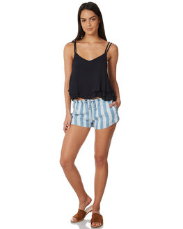 BLEACH STRIPE WOMENS CLOTHING ALL ABOUT EVE SHORTS - 6423073STR