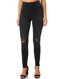 HYSTERIC BLACK WOMENS CLOTHING LEE JEANS - L-656621-KY2