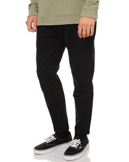 BLACK MENS CLOTHING THRILLS PANTS - TW7-405BBLK