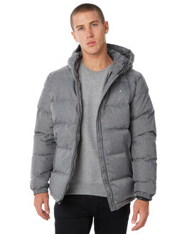 HERRINGBONE GREY MENS CLOTHING HUFFER JACKETS - MDJA81S1402HGRY