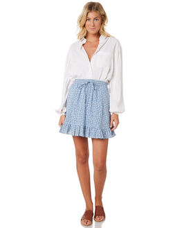 POWDER BLUE WOMENS CLOTHING RUE STIIC SKIRTS - SA19-21-DPB
