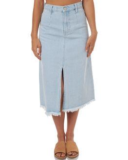 WASHED BLUE WOMENS CLOTHING ZULU AND ZEPHYR SKIRTS - ZZ1682WBL
