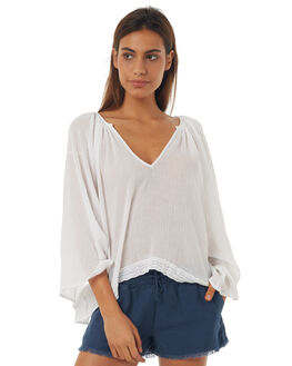 WHITE WOMENS CLOTHING RUSTY FASHION TOPS - SCL0273WHT