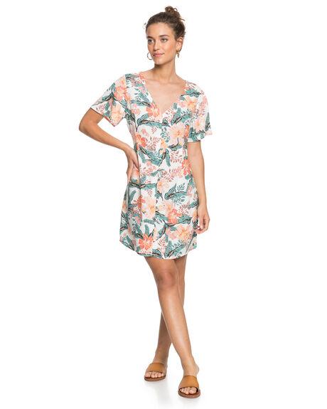 SNOW WHITE MAHE WOMENS CLOTHING ROXY DRESSES - ERJWD03485-WBK7