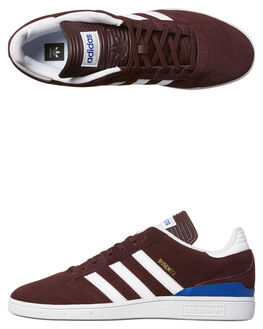 BURGUNDY WHITE MENS FOOTWEAR ADIDAS ORIGINALS SKATE SHOES - BY3965BUR
