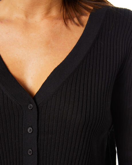 BLACK WOMENS CLOTHING NUDE LUCY KNITS + CARDIGANS - NU24231BLK