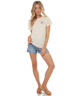 DIRTY WHITE WOMENS CLOTHING THRILLS TEES - WTS7-113ADWHT