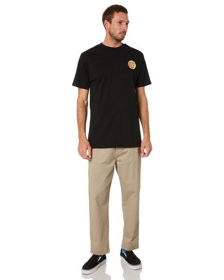 BLACK MENS CLOTHING SANTA CRUZ TEES - SC-MTC1931BLK