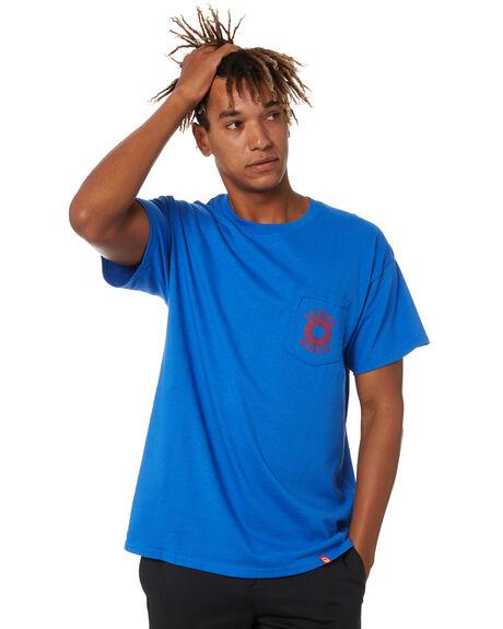 ROYAL BLUE MENS CLOTHING SPITFIRE TEES - 51010553GRYL