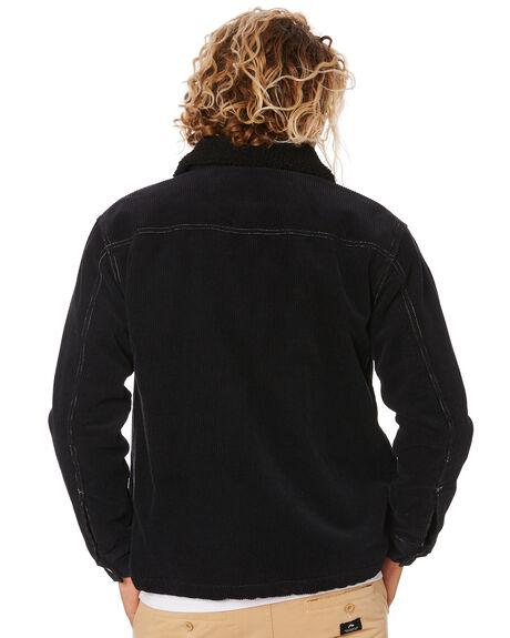 BLACK MENS CLOTHING RUSTY JACKETS - JKM0386BLK
