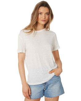 WHITE WOMENS CLOTHING THE BARE ROAD TEES - 991241-03WHT