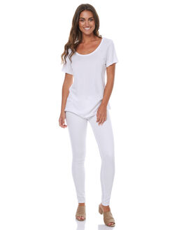 WHITE WOMENS CLOTHING RUSTY JEANS - PAL0758WHT