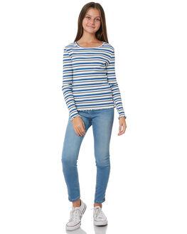 BLUE GREY WHITE KIDS GIRLS EVES SISTER TOPS - 9531063BLU