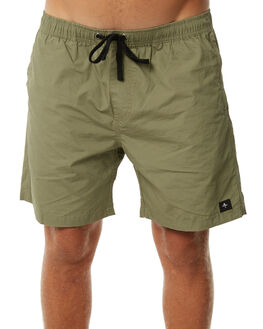 ARMY GREEN MENS CLOTHING THRILLS BOARDSHORTS - TR7-305FARMY