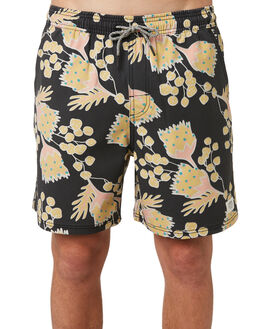 BLACK MENS CLOTHING KATIN BOARDSHORTS - TROUTSS00BLK