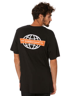 BLACK MENS CLOTHING RPM TEES - 20AM03A2BLACK