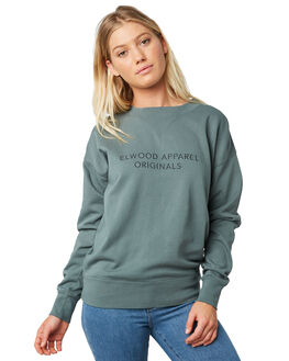 HUNTER GREEN WOMENS CLOTHING ELWOOD JUMPERS - W9121843S