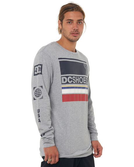 HEATHER GREY MENS CLOTHING DC SHOES TEES - UDYZT03472KNFH