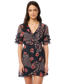 NAVY PATCHWORK WOMENS CLOTHING THE FIFTH LABEL DRESSES - 40180314-7NAVYP