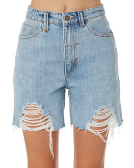 RECKLESS BLUE WOMENS CLOTHING THRILLS SHORTS - WTDP-315ERBLU