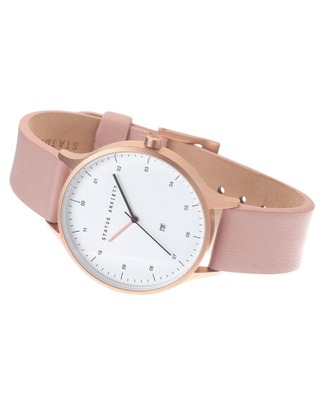 GOLD WHITE BLUSH WOMENS ACCESSORIES STATUS ANXIETY WATCHES - SA1534GDWHB