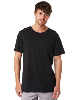BLACK MENS CLOTHING ACADEMY BRAND TEES - BA333BLK