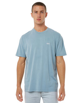 DUSTY BLUE MENS CLOTHING STUSSY TEES - ST071000DBLUE