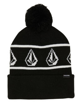 BLACK MENS ACCESSORIES VOLCOM HEADWEAR - D5812000BLK